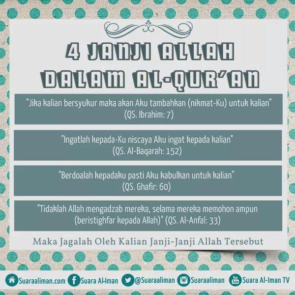 4 Janji Allah Dalam Al Quran