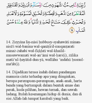 Image result for Surat Ali-Imran ayat 14