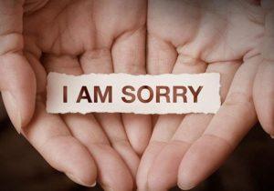 Ucapan Maaf Seorang Lelaki